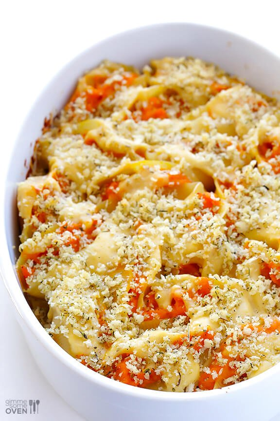 Butternut Alfredo Baked Shells | gimmesomeoven.com #pasta