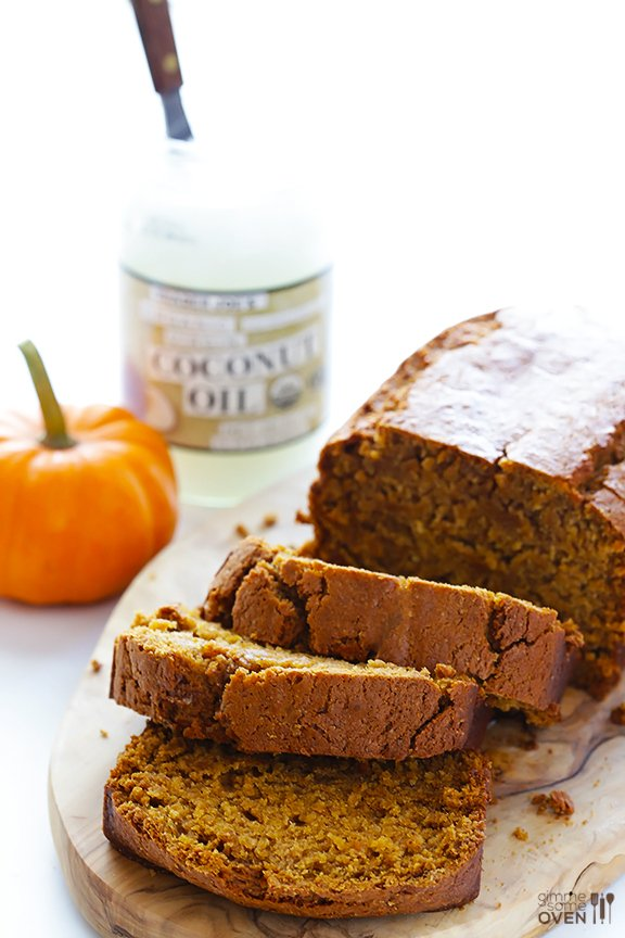 Coconut Oil Pumpkin Bread {Gimme Some Oven}
