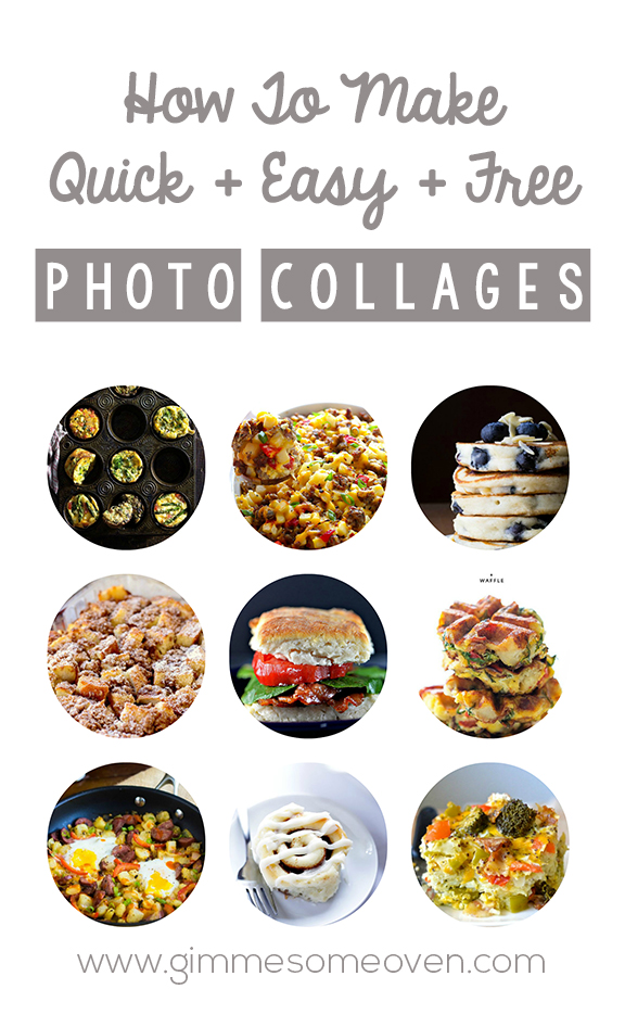 How To Make Quick, Easy and Free Photo Collages -- a step-by-step tutorial | gimmesomeoven.com