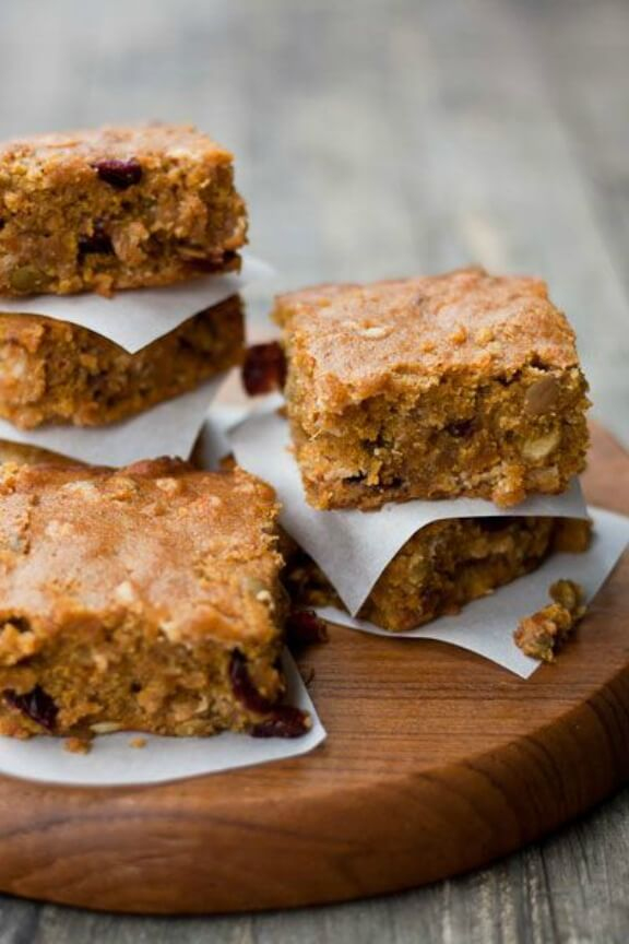 Butternut Squash Blondies | foodpluswords.com