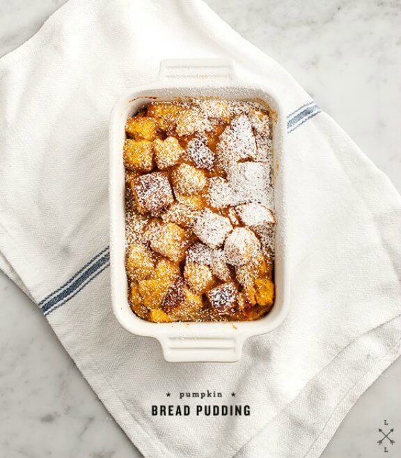 Pumpkin Bread Pudding | loveandlemons.com