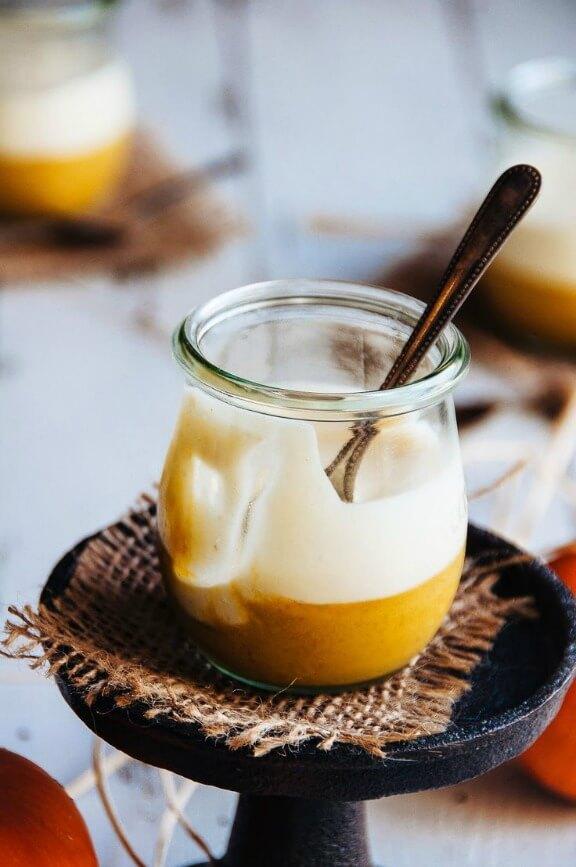 Pumpkin Spice Custard with Maple Brown Butter Mousse | hintofvanilla.blogspot.com