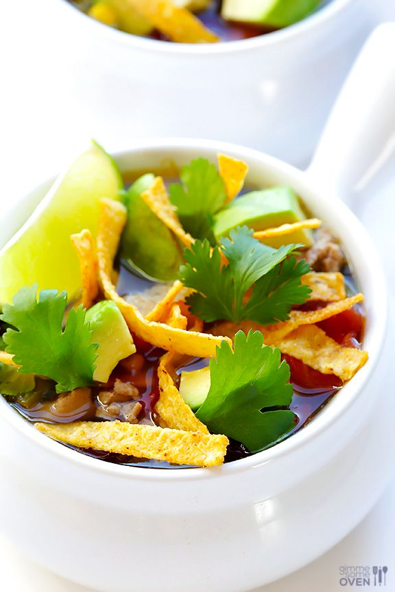 Slow Cooker Taco Soup | gimmesomeoven.com