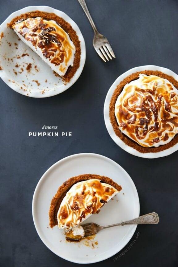 S'Mores Pumpkin Pie   loveandoliveoil.com
