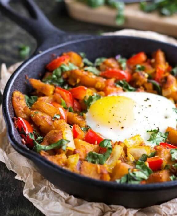 Squash, Pepper & Kale Hash | foodfaithfitness.com
