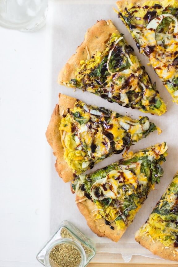 Sweet Potato and Kale Pizza with Balsamic Drizzle | Jessica In The Kitchen