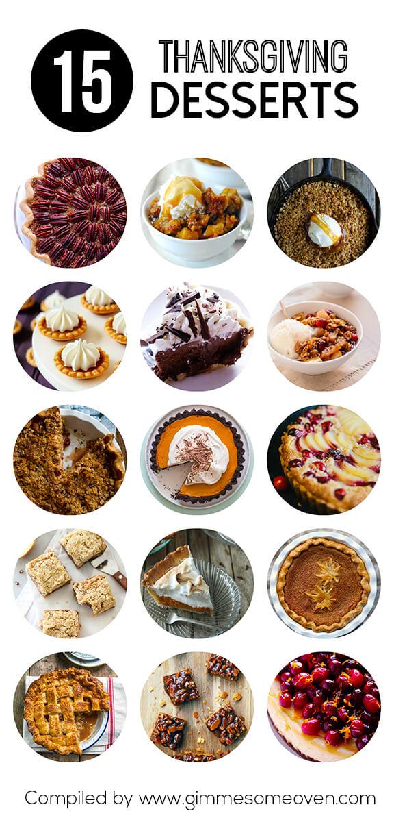 15 Thanksgiving Dessert Recipes | gimmesomeoven.com