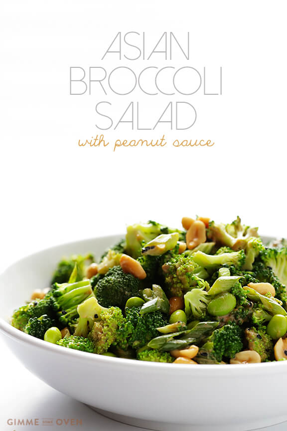 Vegan Broccoli Salad With Spicy Sesame Peanut Dressing ...