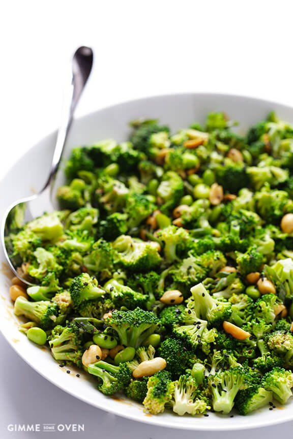 broccoli salad with spicy sesame peanut dressing vegan broccoli salad ...