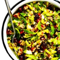 Brussels Sprouts, Cranberry and Quinoa Salad Recipe