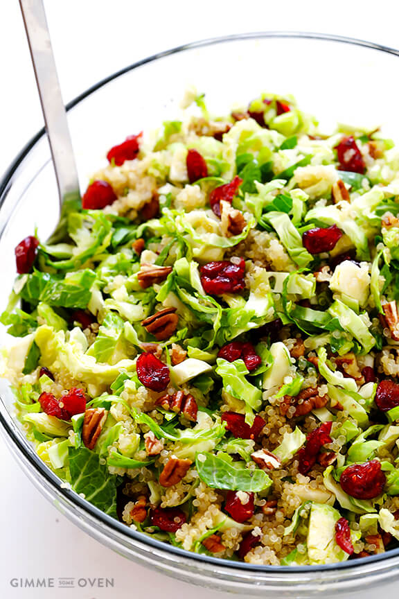 Brussels Sprouts, Cranberry and Quinoa Salad | gimmesomeoven.com # ...