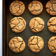 Ginger Molasses Cookies | gimmesomeoven.com