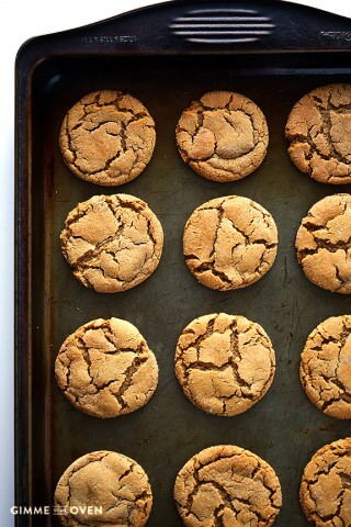 Ginger Molasses Cookies | gimmesomeoven.com