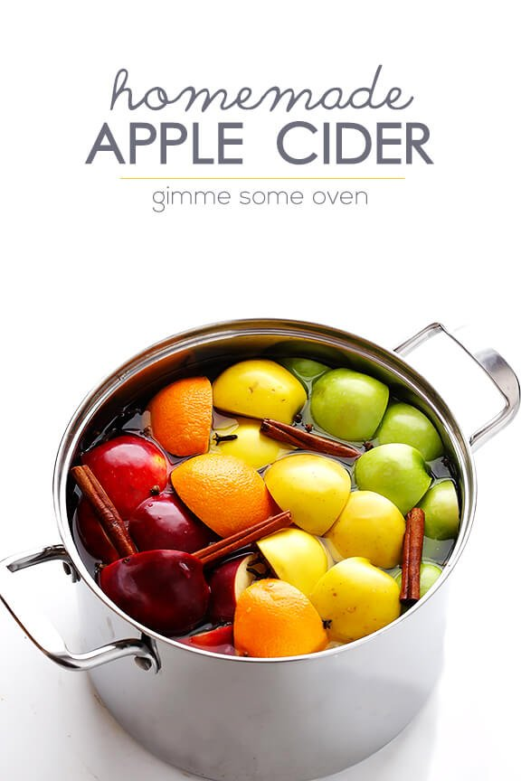 Homemade Apple Cider -- it's so easy to make all-natural apple cider from scratch! | gimmesomeoven.com