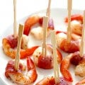 Easy Prosciutto Wrapped Shrimp | gimmesomeoven.com #glutenfree #appetizer