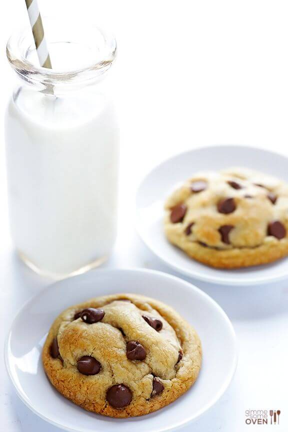 Coconut Oil Chocolate Chip Cookies   gimmesomeoven.com