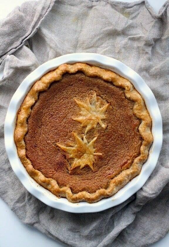 Maple Syrup Pie | kitchenvignettes.blogspot.com