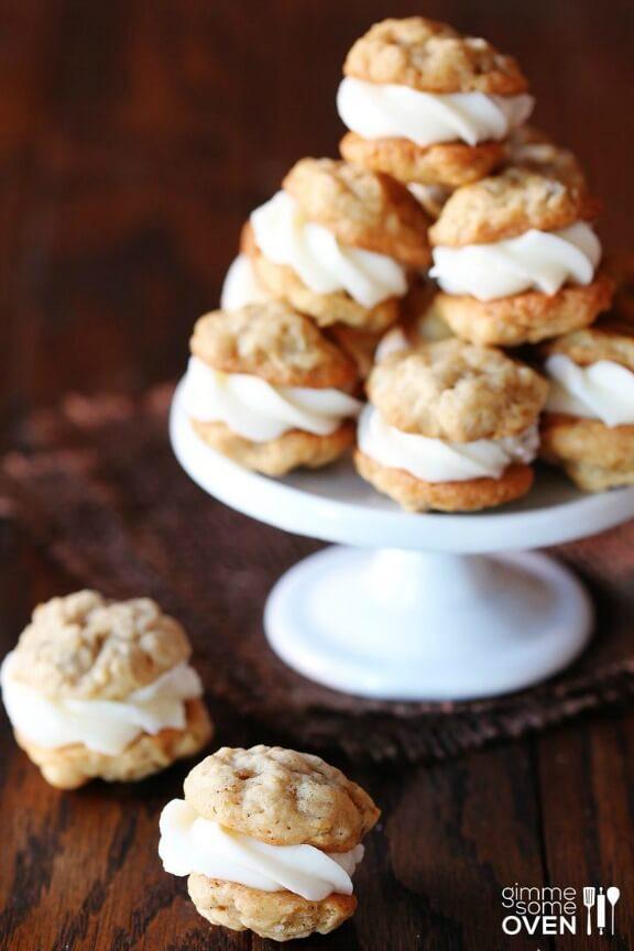 Mini Oatmeal Creme Pies | gimmesomeoven.com