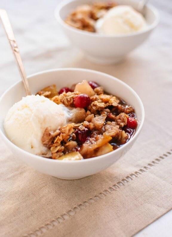 Gluten-Free Pear Cranberry Crisp | cookieandkate.com