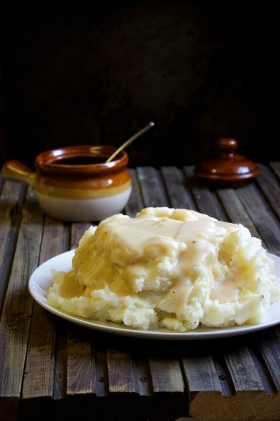Perfect Mashed Potatoes & Gravy | kitchensimplicity.com