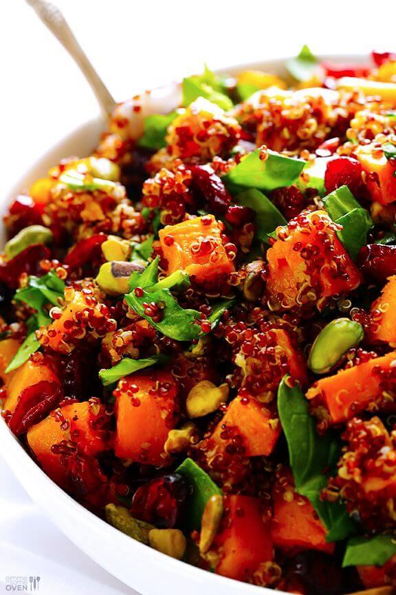 "Quinoa ""Stuffing"" (Quinoa with Butternut Squash, Cranberries & Pistachios) | gimmesomeoven.com"
