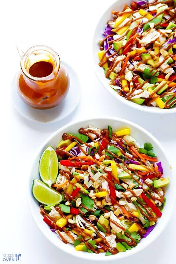 Rainbow Thai Chicken Salad   gimmesomeoven.com
