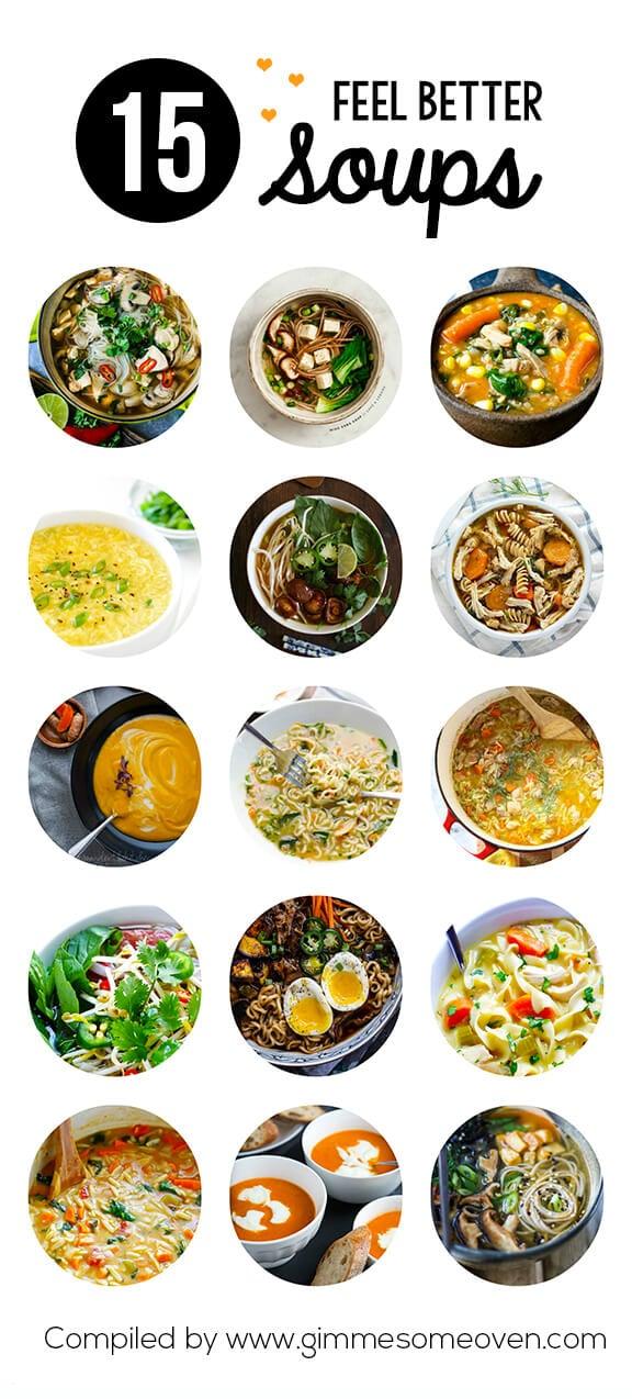15 Feel Better Soup Recipes   gimmesomeoven.com