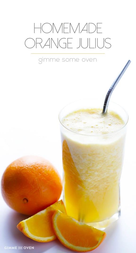 Copycat Orange Julius Recipe - a quick, easy, and delicious fresh orange smoothie | familycuisine.net