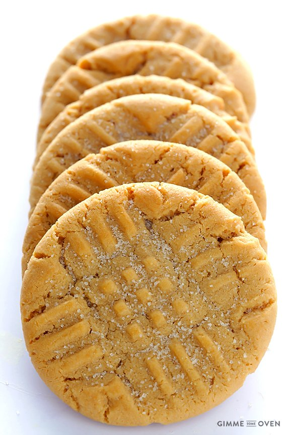 Peanut Butter Cookies -- soft, chewy and irresistibly good ...