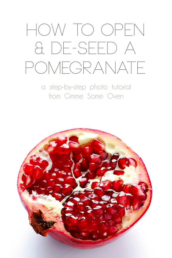 How To Open and De-Seed A Pomegranate: Step-By-Step Instructions | gimmesomeoven.com