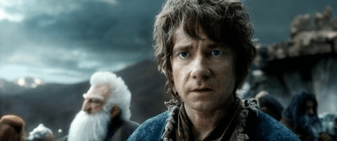 Martin Freeman in Peter Jackson's The Hobbit: The Battle of the Five Armies. © 2014 Warner Bros. Entertainment Inc. and Metro-Goldwyn-Mayer Pictures Inc.