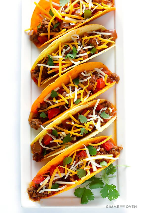 Sloppy Joe Tacos | gimmesomeoven.com