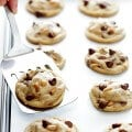 Toffee Chocolate Chip Cookies Recipe | gimmesomeoven.com
