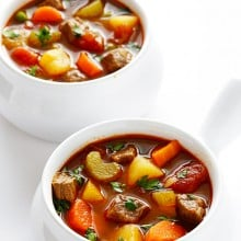Vegetable Beef Soup | gimmesomeoven.com