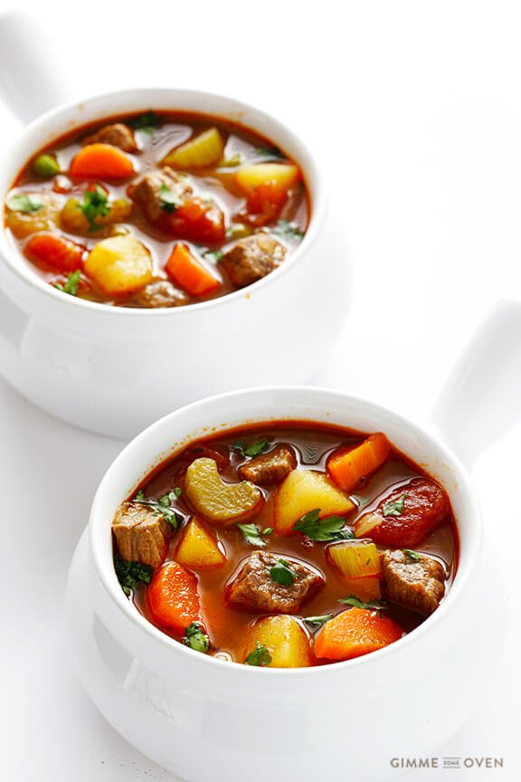 Vegetable Beef Soup | Gimme Some Oven