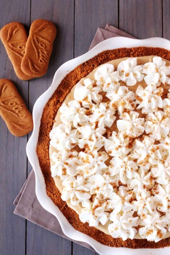 Biscoff Pie | gimmesomeoven.com