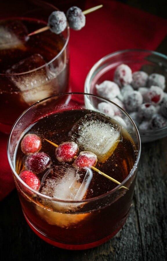 Cranberry-Ginger Sparkling Rum Cider | katieatthekitchendoor.com