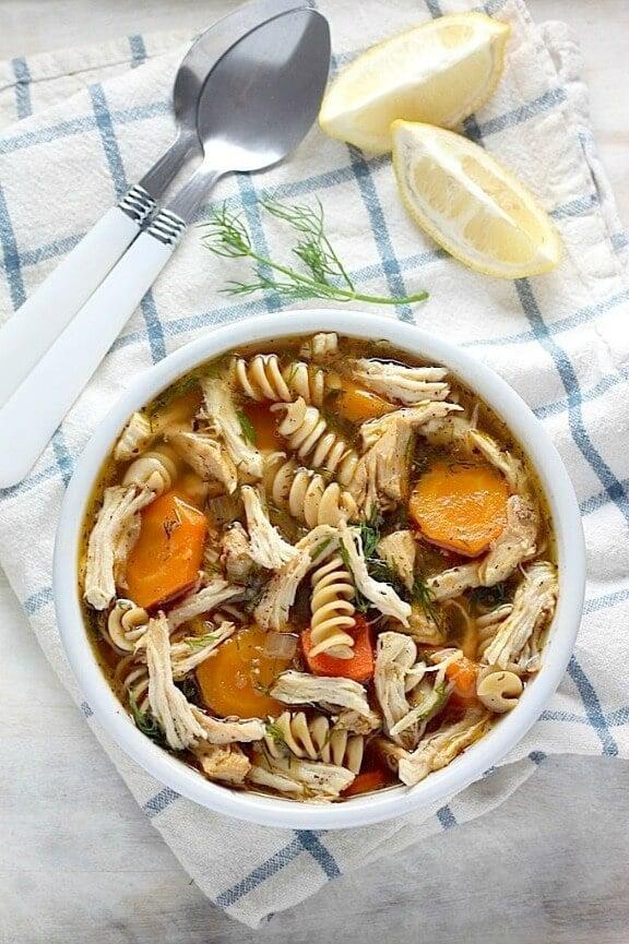 Flu Fighter Chicken Noodle Soup | bakerbynature.com