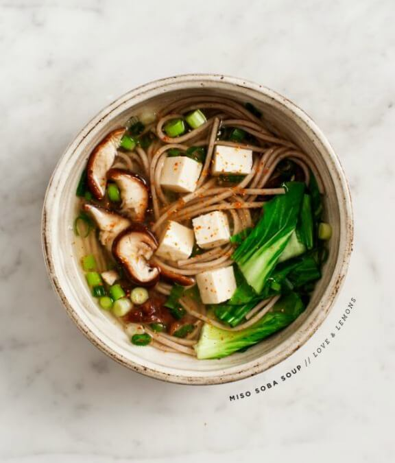 Miso Shiitake Soba Soup | loveandlemons.com