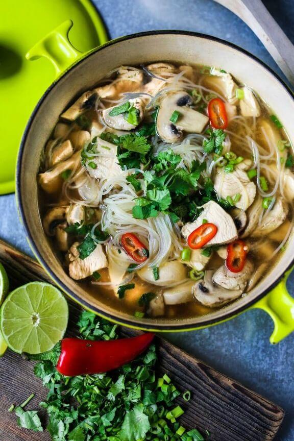 Thai Chicken Noodle Soup | feastingathome.com