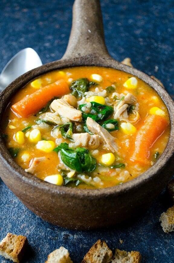 Tomato Chicken Rice Soup   giverecipe.com