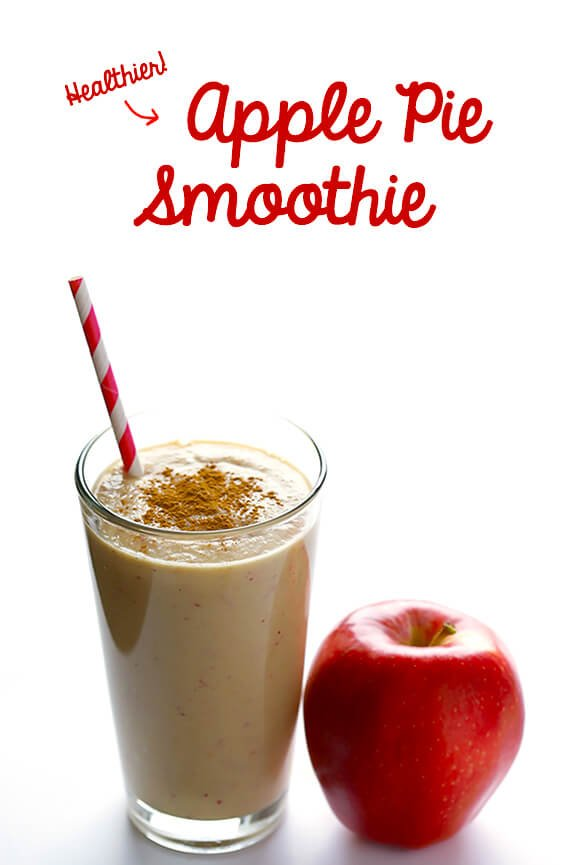 Apple Pie Protein Smoothie | gimmesomeoven.com #glutenfree