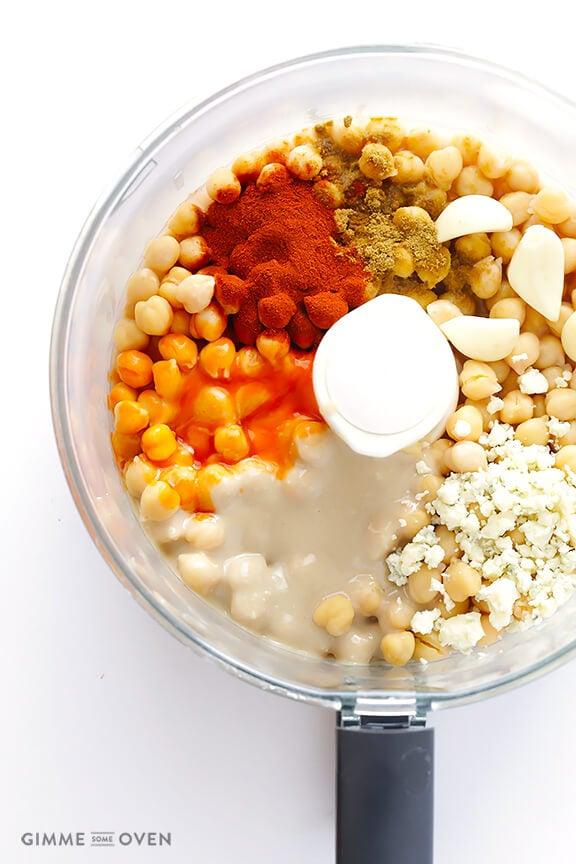 Buffalo Hummus Dip Recipe | gimmesomeoven.com