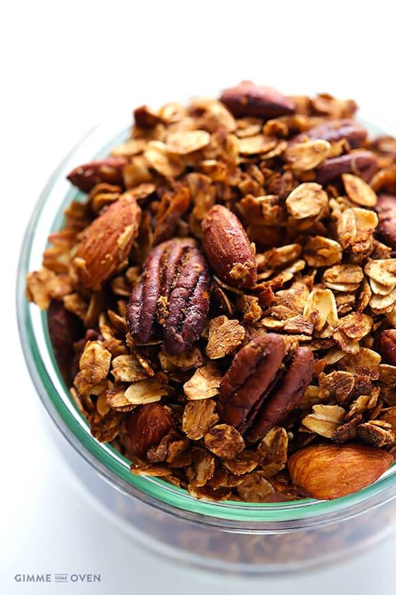 Chai-Spiced Granola | gimmesomeoven.com