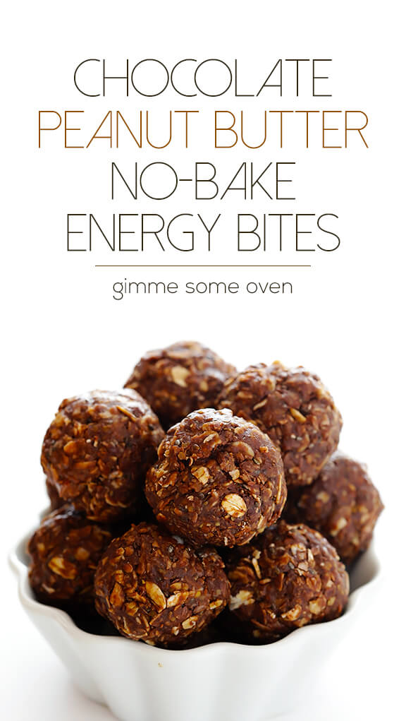 Chocolate Peanut Butter No-Bake Energy Bites -- full of protein ...