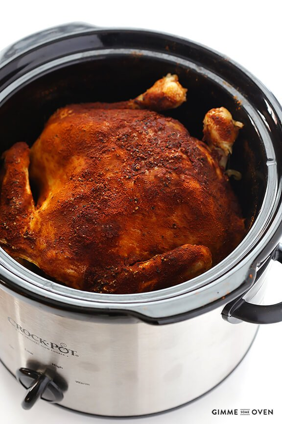 "Gimme Some Oven Slow Cooker ""Rotisserie"" Chicken 