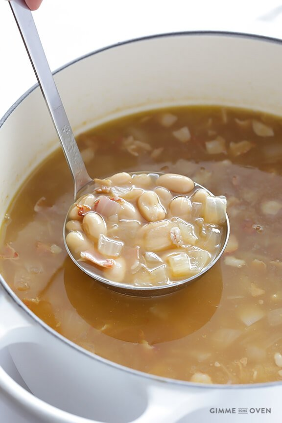 7-Ingredient Tuscan White Bean Soup   gimmesomeoven.com