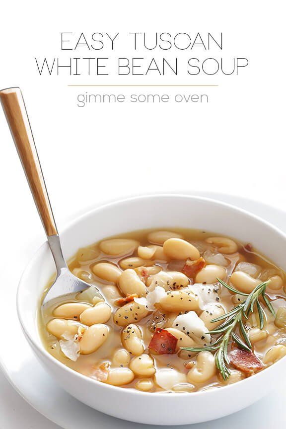 Garbanzo And White Bean Soup Recipe With Lamb And Rosemary ...