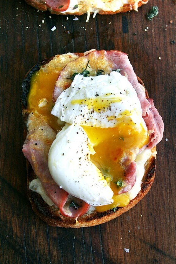 Croque Monsieur with Poached Eggs | alexandracooks.com