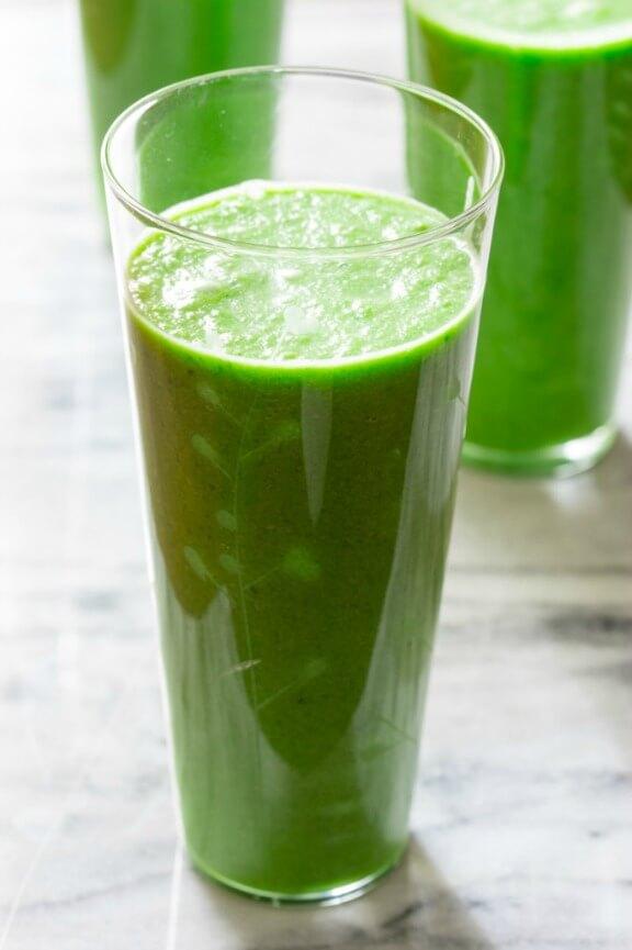 Green Apple Smoothie   healthyseasonalrecipes.com